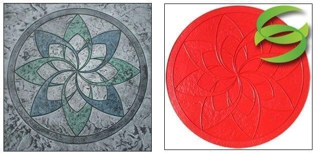 Pinwheel Medallion Concrete Stamping Mats