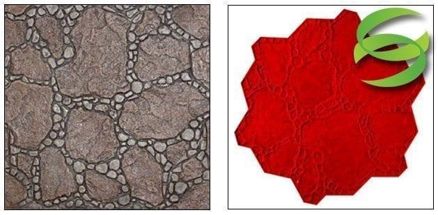 Random Garden Stone Concrete Stamping Mats