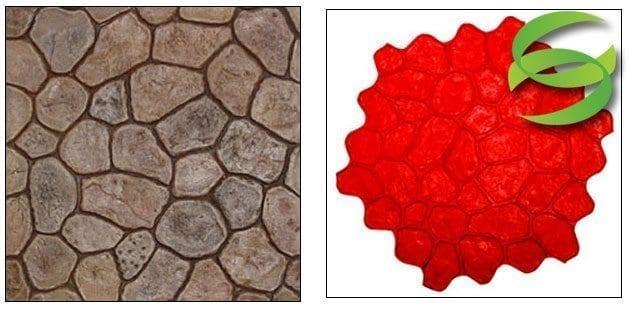 Random River Rock Concrete Stamping Mats