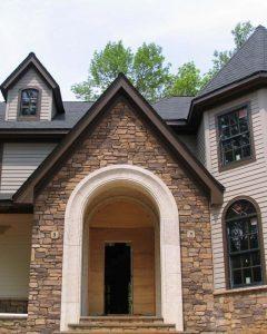 Large Residential GFRC Entryway Accent Concrete Panels