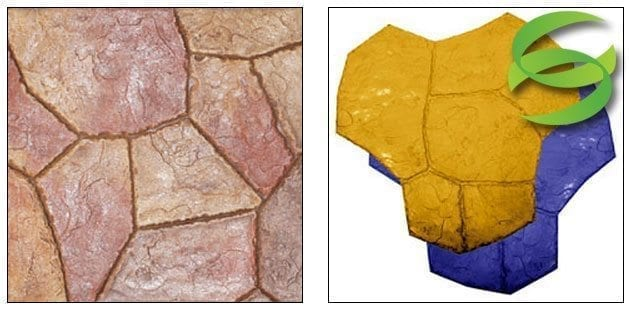 Santa Fe Random Stone-Small Concrete Stamping Mats