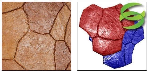 Santa Fe Stone Medium Concrete Stamping Mats