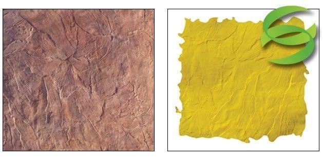 Seamless Italian Slate Concrete Stamping Skin