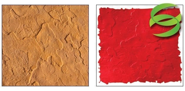 Seamless Sandstone Course Concrete Stamping Skin