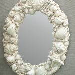 Shell Mirror Cast from a Mold Using Concrete Precast Mix