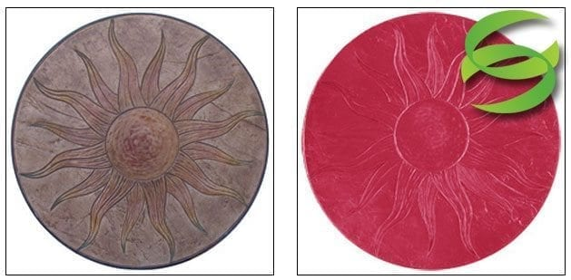 Sun Stamp Medallion Concrete Stamping Mat