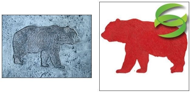 Wildlife Series Bear Concrete Stamp Mat