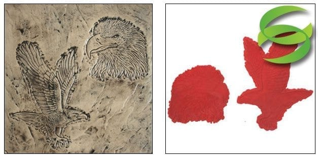 Wildlife Series Set of 2 Eagles Concrete Stamp Mat