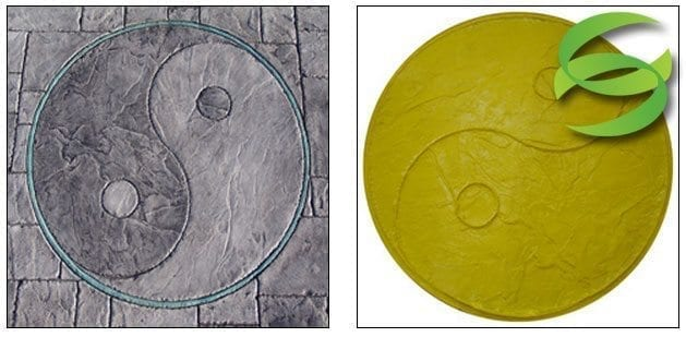 Yin Yang Medallion Concrete Stamping Mat
