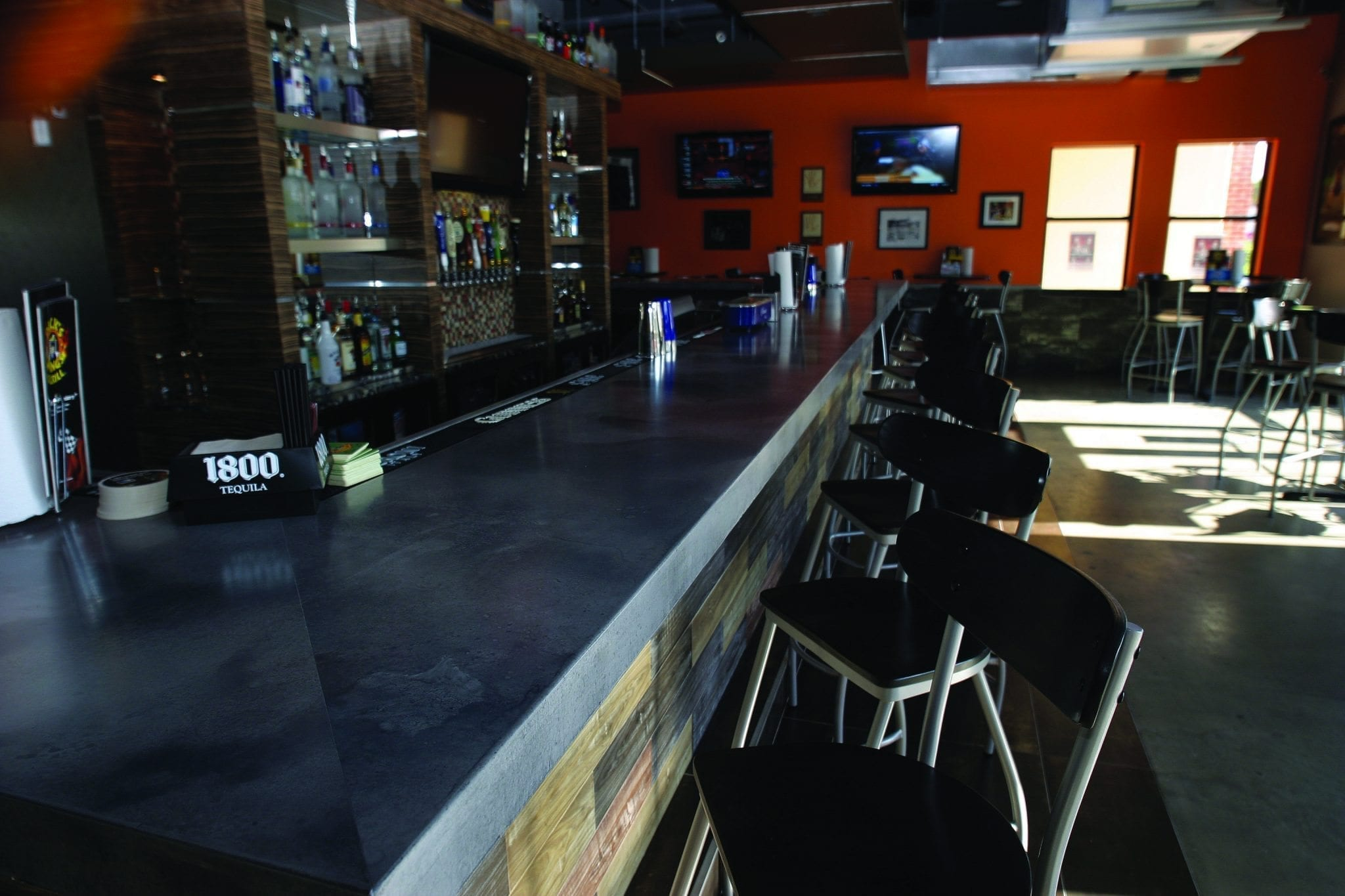 Commercial Concrete Countertop Bar