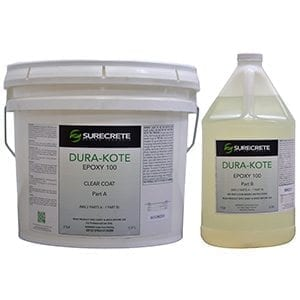 Affordable Clear Floor Epoxy 100 Thin Viscosity Dura-Kote Series DK 500 by SureCrete