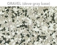 epoxy floor flakes gravel