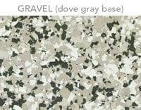 epoxy floor flakes gravel