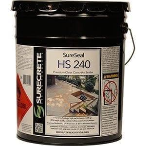 Exterior Premium Clear Stamped Concrete Sealer HS 200 Series by SureCrete