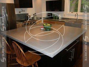 Clean White Concrete Countertop