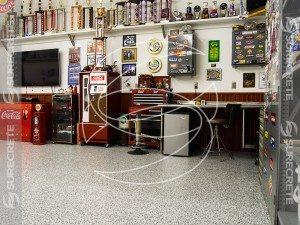 One Day Garage Floor Flake System
