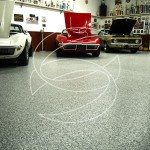Gray Flake Garage Floor Coating