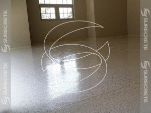 Epoxy Interior Floor Coating With Flake and Clear Coat