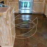Kitchen Decorative Brown Concrete Floor