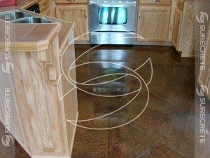 Kitchen Decorative Brown Concrete Floor