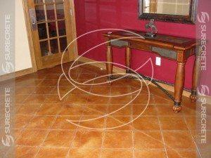 Clean Tile Taped Concrete Brown Floor