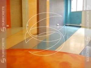 Water Based Color Stained Concrete Floor