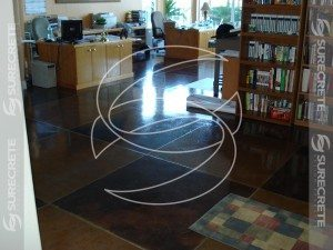 Marble Looking Stained Polished Concrete Commercial Floor