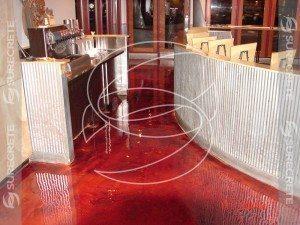3D Red Epoxy Metallic Floor Coating