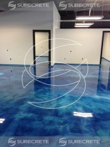 3D Blue Epoxy Metallic Floor Coating