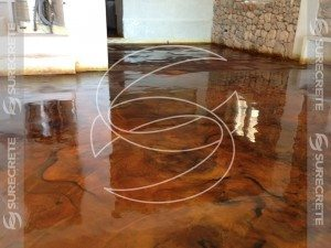 3D Brown Epoxy Metallic Floor Coating