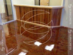 Brown Epoxy Metallic Floor Coating