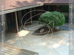 Concrete Pool Overlay Patio