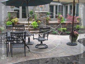 Concrete Overlay Back Porch