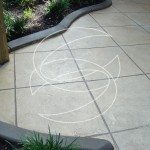 Thin Concrete Tile Pattern Outdoor Patio
