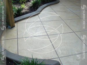 Thin Concrete Tile Pattern Outdoor Patio