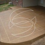Concrete Patio Brown Stained Overlay