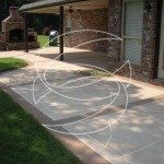 Decorative Concrete Back Yard Patio