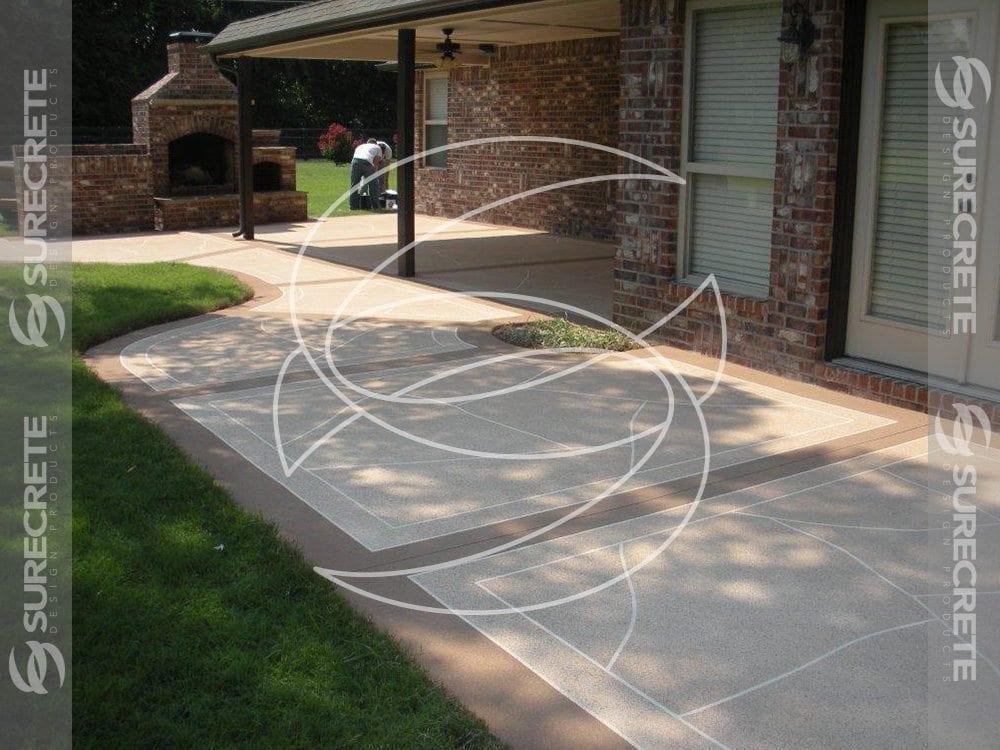 decorative concrete back yard patio surecrete products