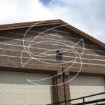 Residential Exterior Garage Concrete Wall Stamp
