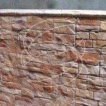 Exterior Stamped Concrete Wall