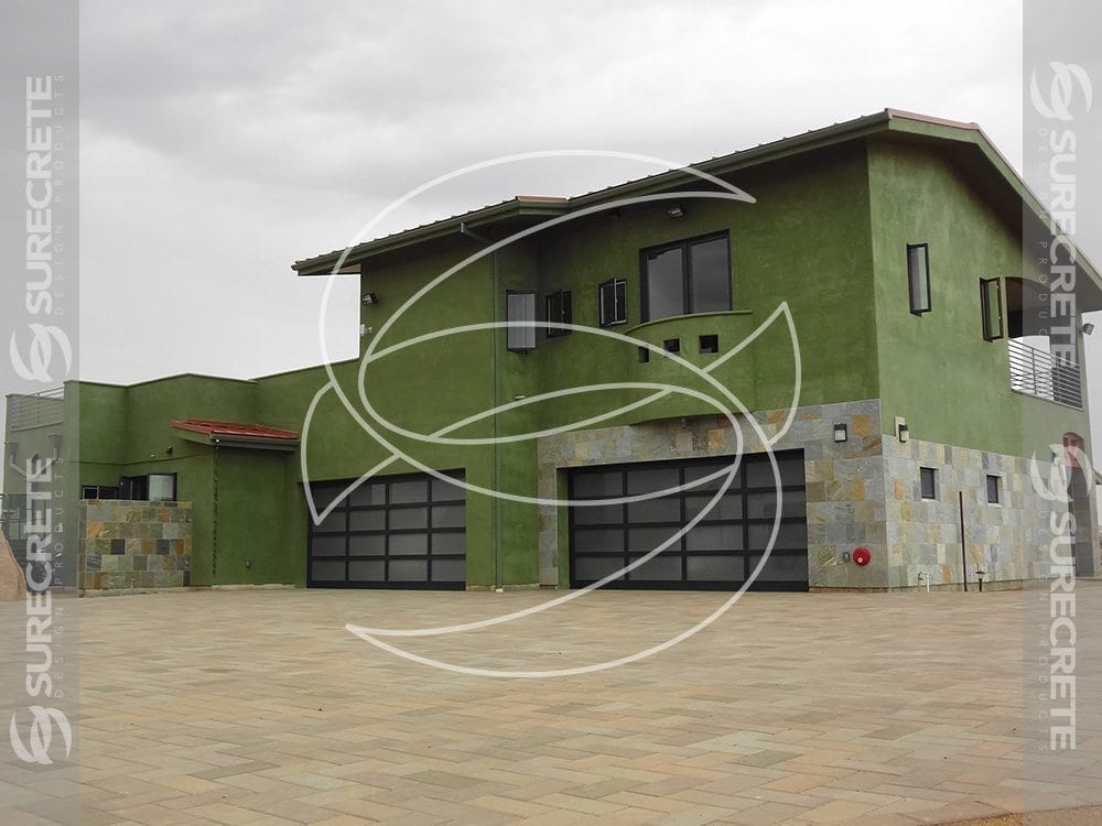 Thin Green Concrete Exterior House Coating