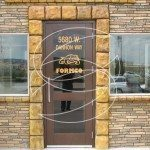 Stamped Concrete Commercial Door Entrance