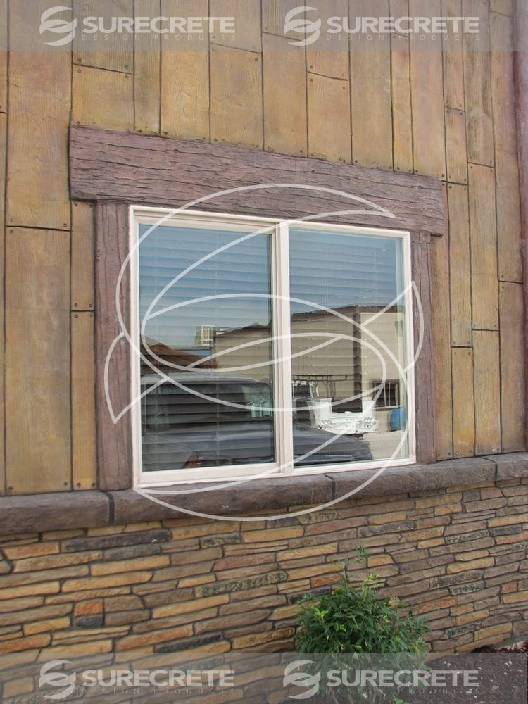 Interior and exterior concrete wall remodeling designs for Window design concrete