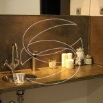 Bathroom Sink Concrete Wall Panel Design Idea
