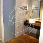Bathroom Decorative Concrete Wall Design Idea
