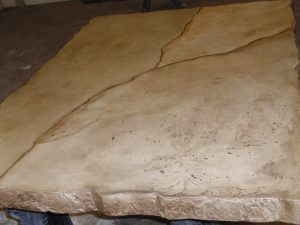 Brown Countertop with Veining Concrete Mix