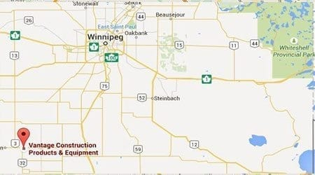 Vantage Construction Products map