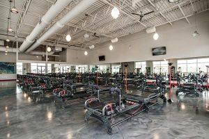 industrial gray epoxy metallic floor