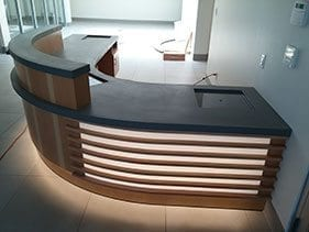 1 receptionist desk modern concrete top