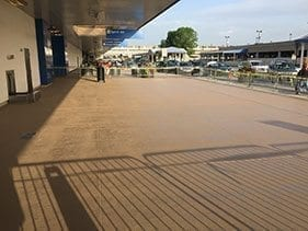 Small airport terminal slip resistant colored sealer